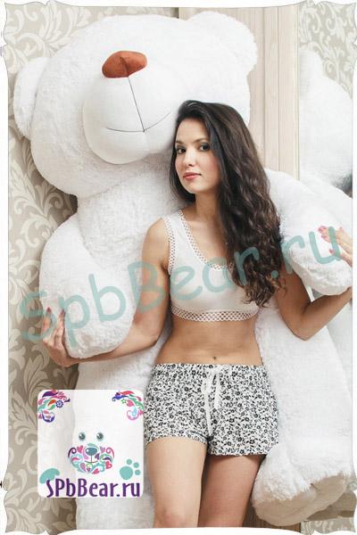 """Огромный медведь 150 см белый """"Гриша"""" - 1"""
