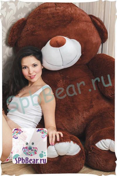 """Огромный медведь 150 см шоколадный """"Добрыня"""" - 1"""