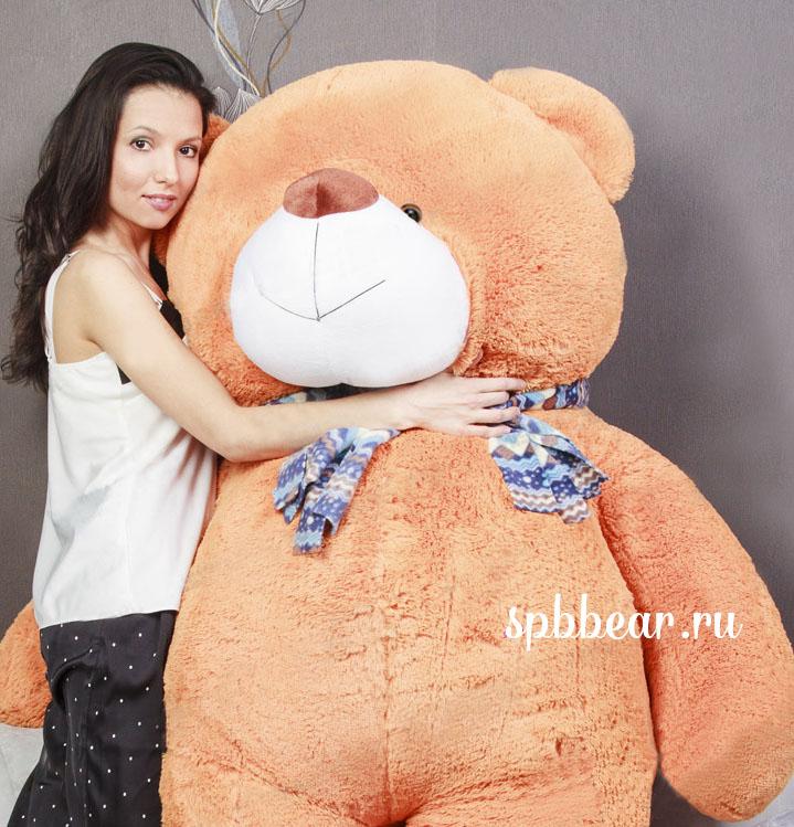 """Огромный медведь 150 см карамельный """"Захар"""" - 1"""